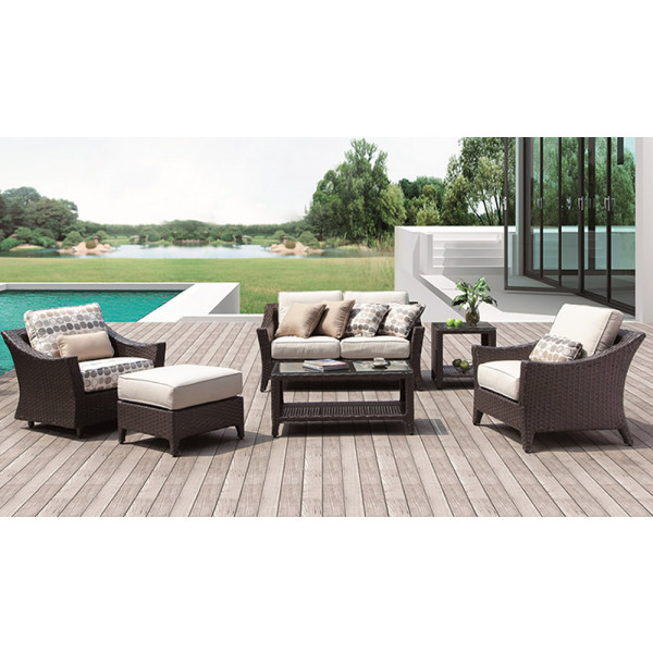 Longboat Key Euclid 6 Piece Wicker Conversation Set