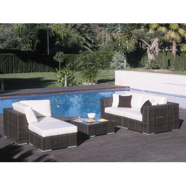Hospitality Rattan Soho 5 Piece Wicker Conversation Set