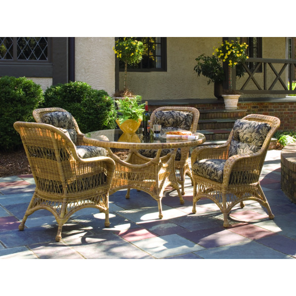 WhiteCraft by Woodard Sommerwind 5 Piece Wicker Dining Set