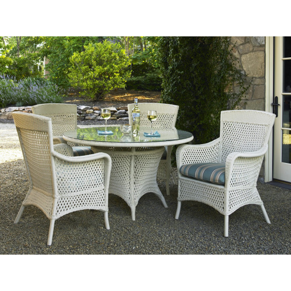 Lloyd Flanders Grand Traverse 5 Piece Wicker Dining Set