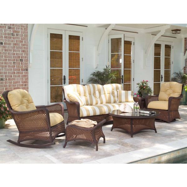 Lloyd Flanders Grand Traverse 6 Piece Wicker Conversation Set