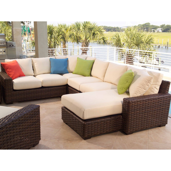 Lloyd Flanders Contempo 5 Piece Wicker Sectional Set
