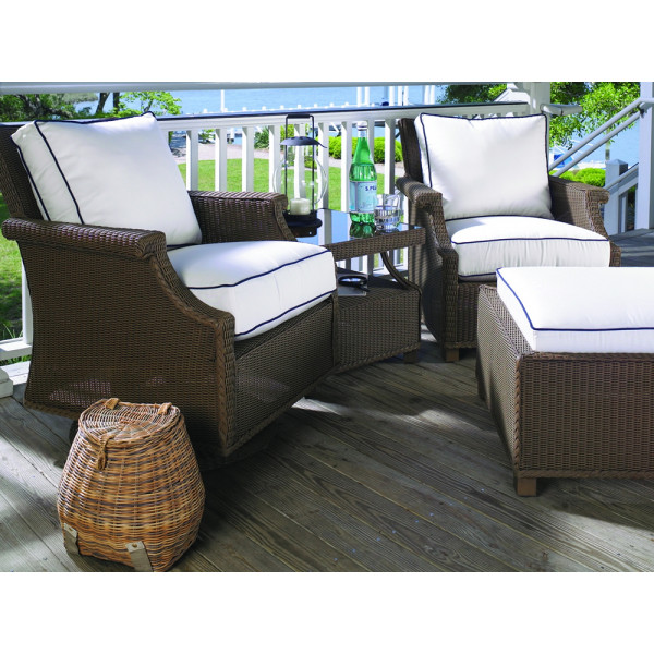 Lloyd Flanders Hamptons 4 Piece Wicker Chat Set