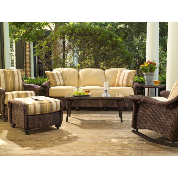Lloyd Flanders Oxford 6 Piece Wicker Conversation Set