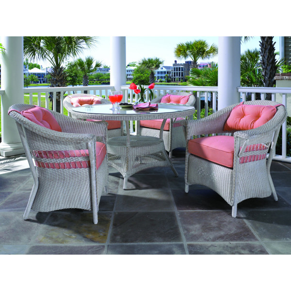 Lloyd Flanders Nantucket 5 Piece Wicker Dining Set