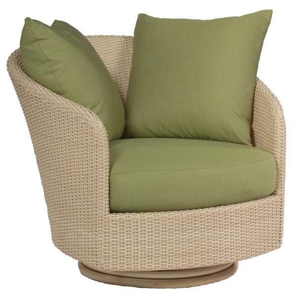WhiteCraft by Woodard Oasis Wicker Swivel Chair - Replacement Cushion