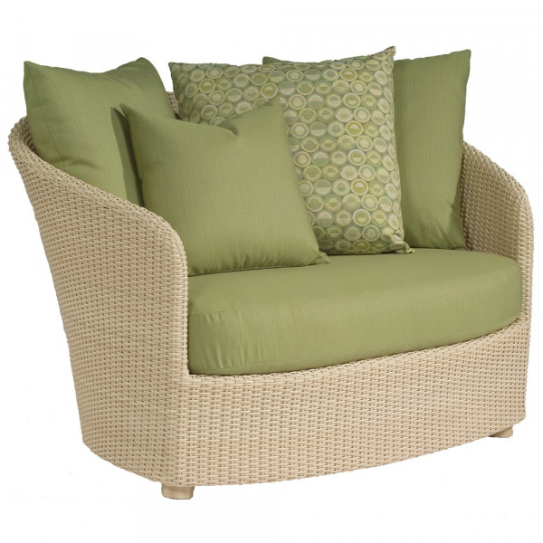 WhiteCraft by Woodard Oasis Wicker Chair and a Half  - Replacement Cushion