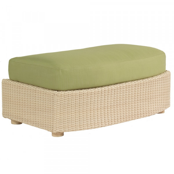 WhiteCraft by Woodard Oasis Large Wicker Ottoman  - Replacement Cushion