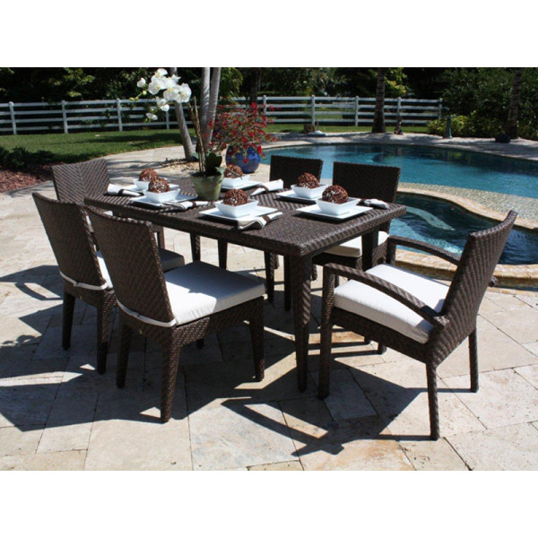 Hospitality Rattan Soho 7 Piece Wicker Dining Set