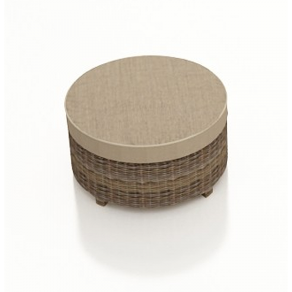 Forever Patio Cypress Wicker Round Ottoman