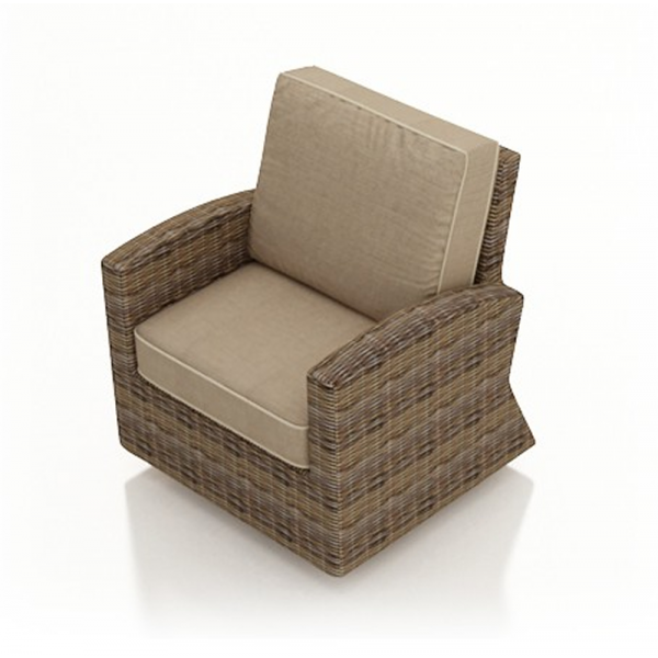 Forever Patio Cypress Wicker Swivel Glider