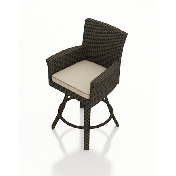 "Northcape Patio Furniture Forever Patio Hampton Wicker 28"" Swivel Bar Stool ..."