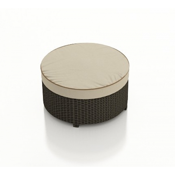 Forever Patio Hampton Round Wicker Ottoman - Replacement Cushion