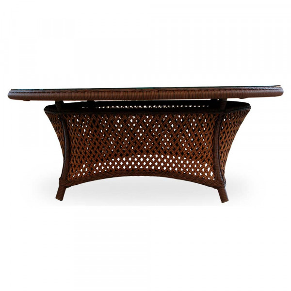 "Lloyd Flanders Grand Traverse 42"" Round Wicker Chat Table"