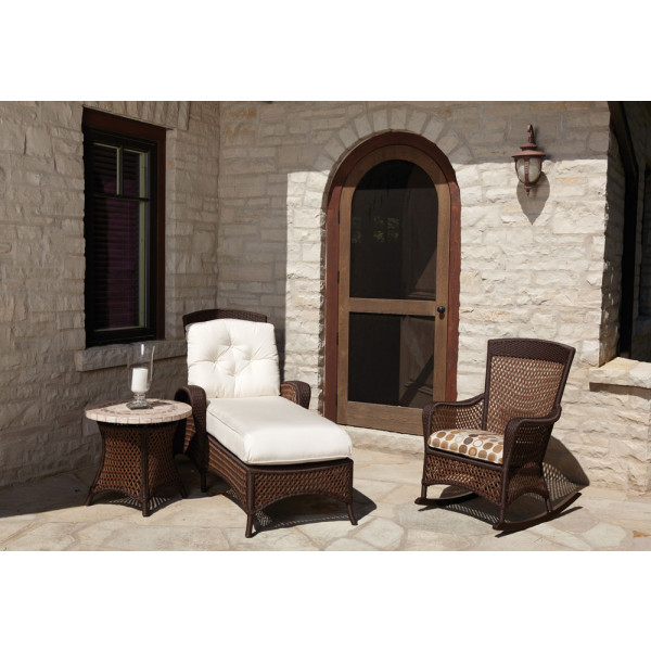 Lloyd Flanders Grand Traverse 3 Piece Wicker Chaise Lounge Chat Set