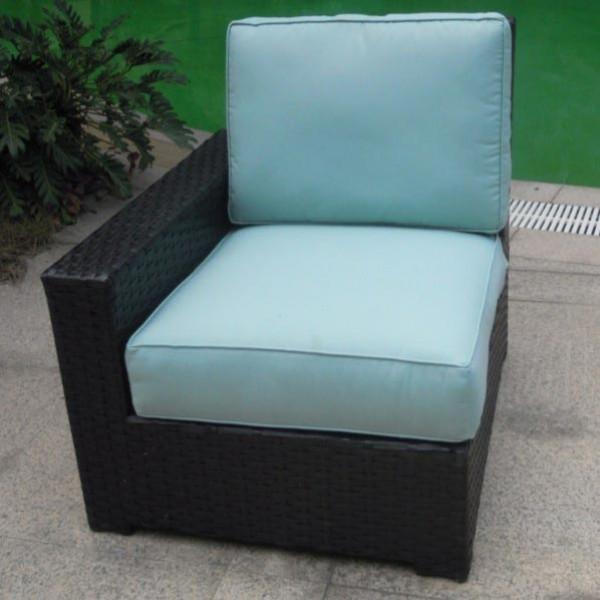 Longboat Key Santa Monica Left Arm Facing Wicker Lounge Chair