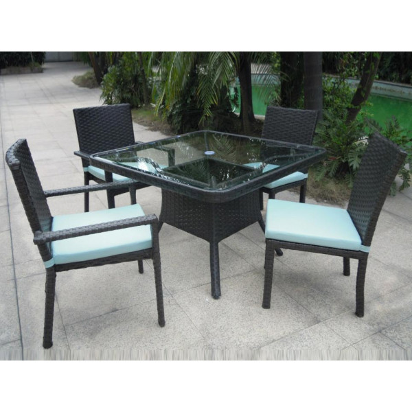 Longboat Key Santa Monica 5 Piece Wicker Dining Set