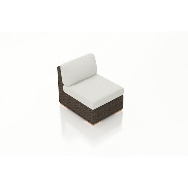 Harmonia Living Arden Chestnut Middle Section Chair - Sunbrella Canvas Natural