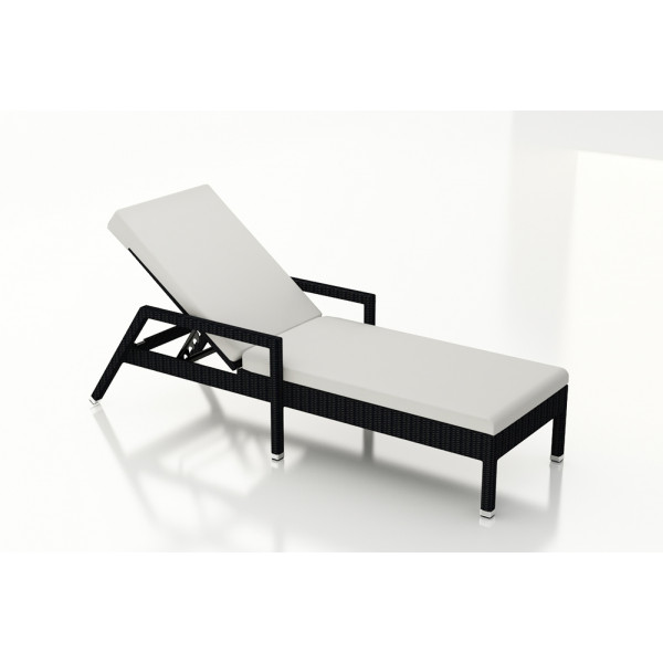 Harmonia Living Urbana Coffee Bean Reclining Chaise Lounge - Sunbrella Canvas Natural