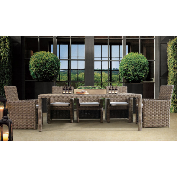 Sunset West Coronado 9 Piece Wicker Dining Set