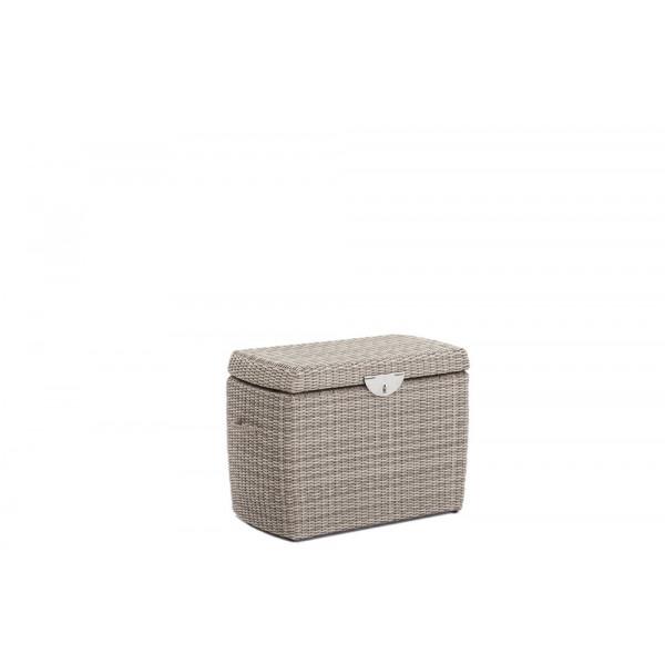 Domus Ventures Ipanema Small Wicker Storage Box - White Pepper