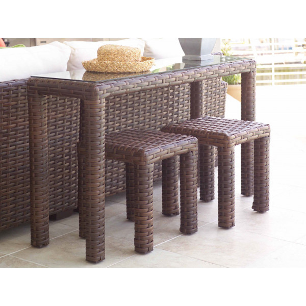 Lloyd Flanders Contempo 3 Piece Wicker Bistro Set