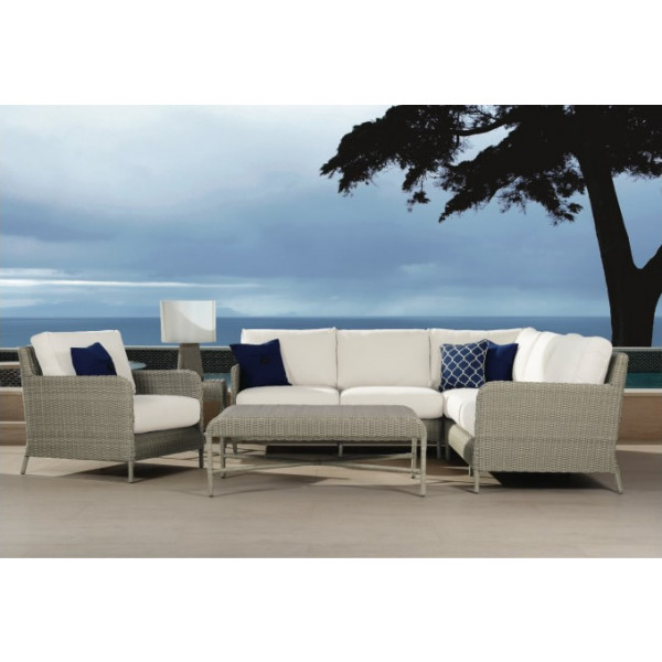 Source Outdoor Manhattan 6 Piece Wicker Sectional Set