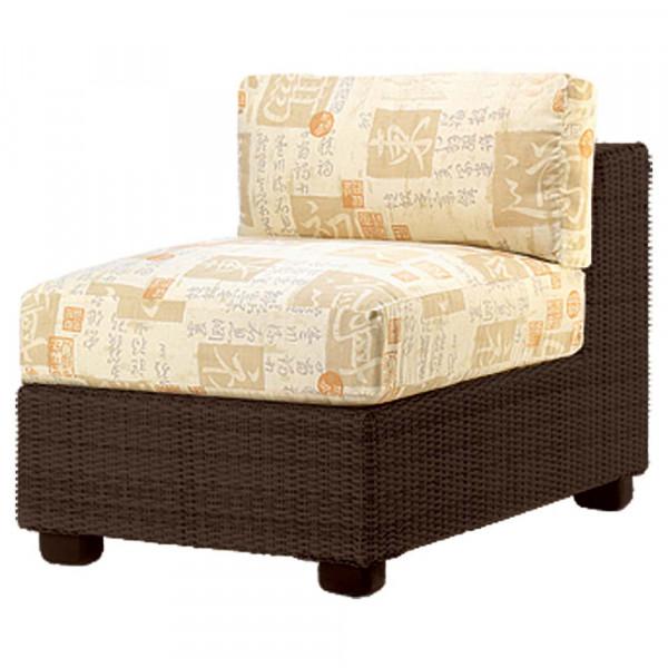 WhiteCraft by Woodard Montecito Armless Wicker Lounge Chair
