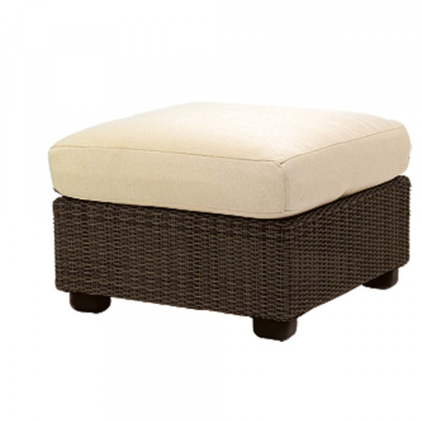 WhiteCraft by Woodard Montecito Wicker Ottoman - Replacement Cushion