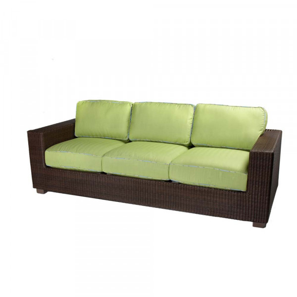 WhiteCraft by Woodard Montecito Wicker Sofa