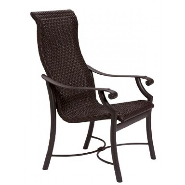 Tropitone Montreux Highback Wicker Dining Chair Wicker Dining