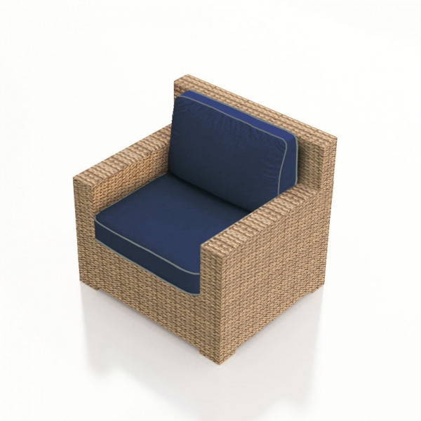 Forever Patio Hampton Wicker Lounge Chair - Biscuit Wicker