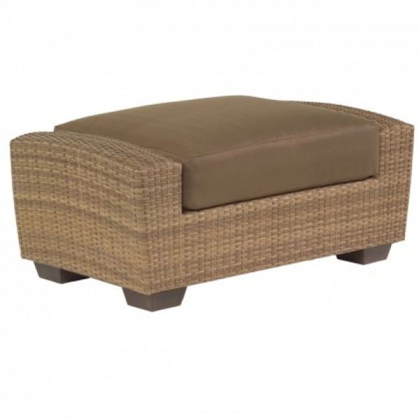 WhiteCraft by Woodard Saddleback Wicker Ottoman  - Replacement Cushion