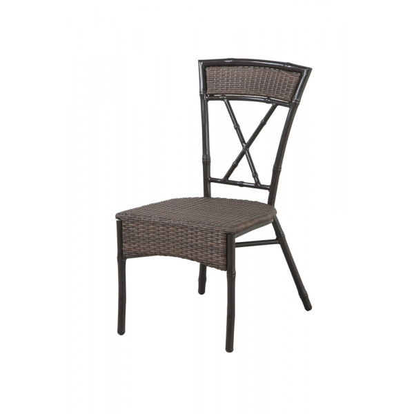 Panama Jack Rum Cay Armless Wicker Dining Chair