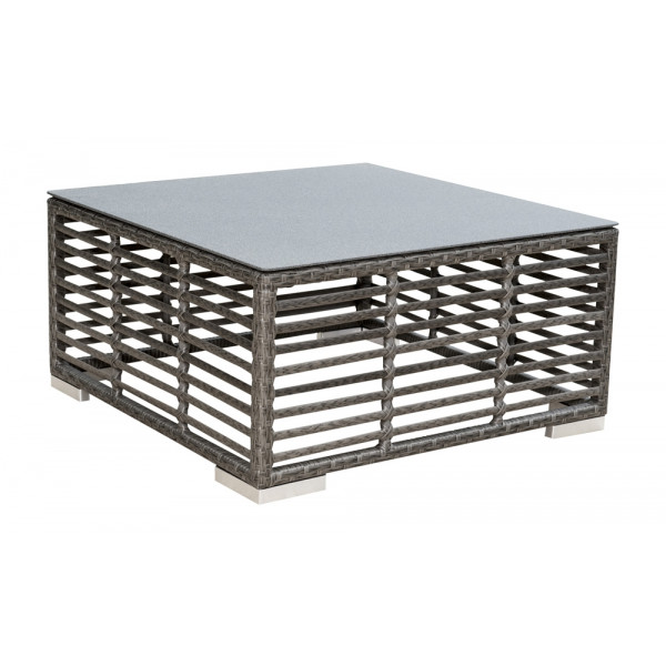 Panama Jack Graphite Wicker Coffee Table