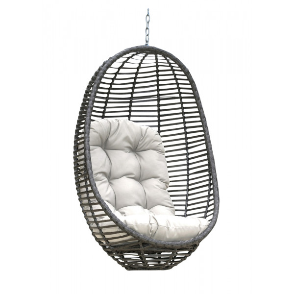 Panama Jack Graphite Wicker Hanging Chair