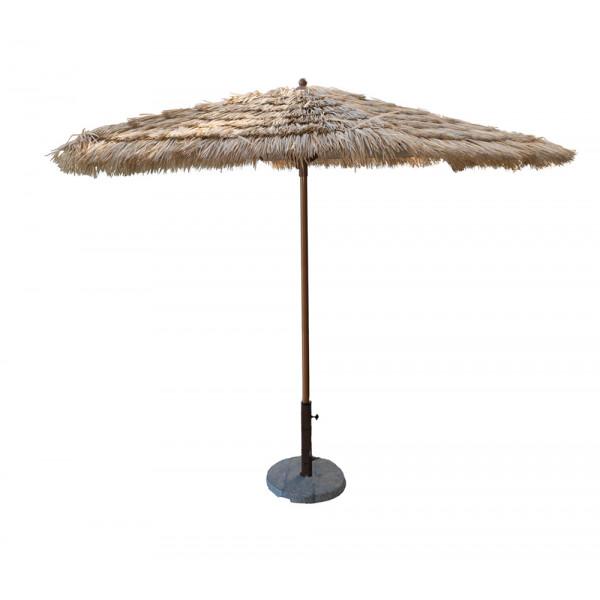 Panama Jack 9' Tiki Thatch Aluminum Crank Umbrella
