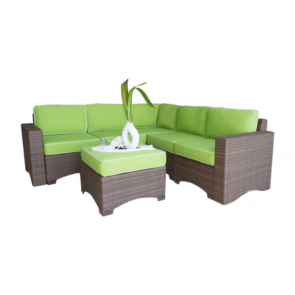 Panama Jack Key Biscayne 6 Piece Wicker Sectional Set