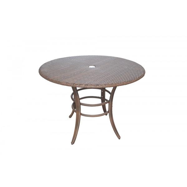 "Panama Jack Key Biscayne Wicker 42"" Dining Table"