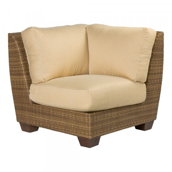 WhiteCraft by Woodard Saddleback Wicker Corner Chair