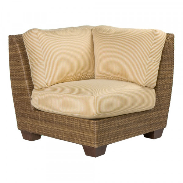 WhiteCraft by Woodard Saddleback Wicker Corner Chair - Replacement Cushion