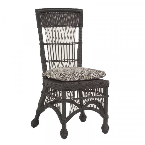 WhiteCraft by Woodard Cottage Wicker Highback Dining Side Chair  - Replacement Cushion