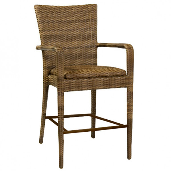WhiteCraft by Woodard Wicker Bar Chair