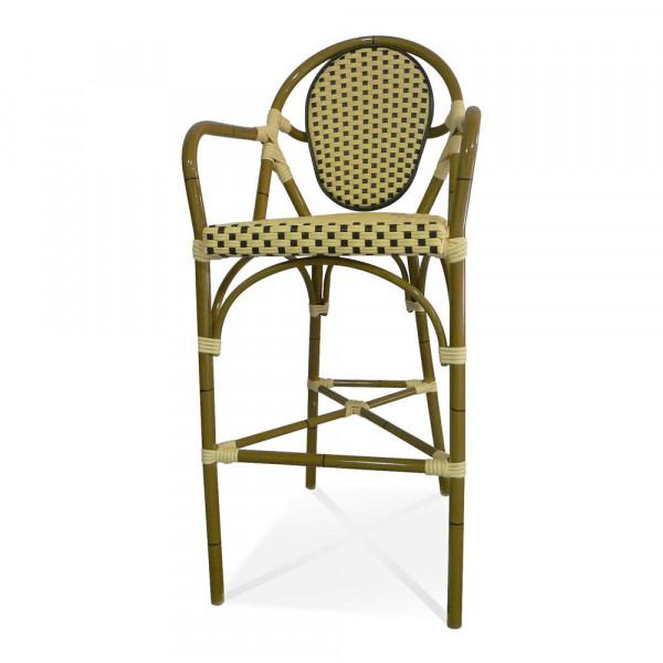 Source Outdoor Paris Armless Wicker Bar Chair