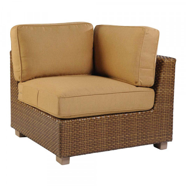 WhiteCraft by Woodard Sedona Wicker Corner Chair