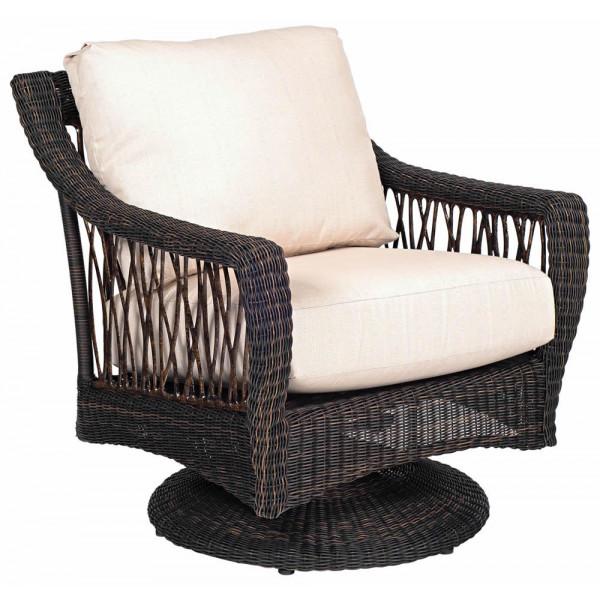 WhiteCraft By Woodard Serengeti Wicker Lounge Chair