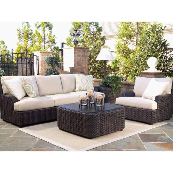 WhiteCraft by Woodard Aruba 4 Piece Wicker Conversation Set
