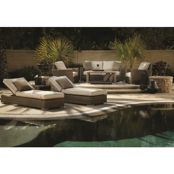 Sunset West Coronado 7 Piece Wicker Conversation Set
