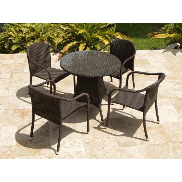 Source Outdoor Circa 5 Piece Wicker Bistro Set