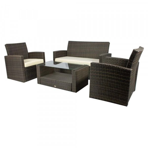 Source Outdoor Cabo 4 Piece Wicker Conversation Set